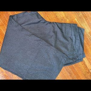 Black textured dress pants